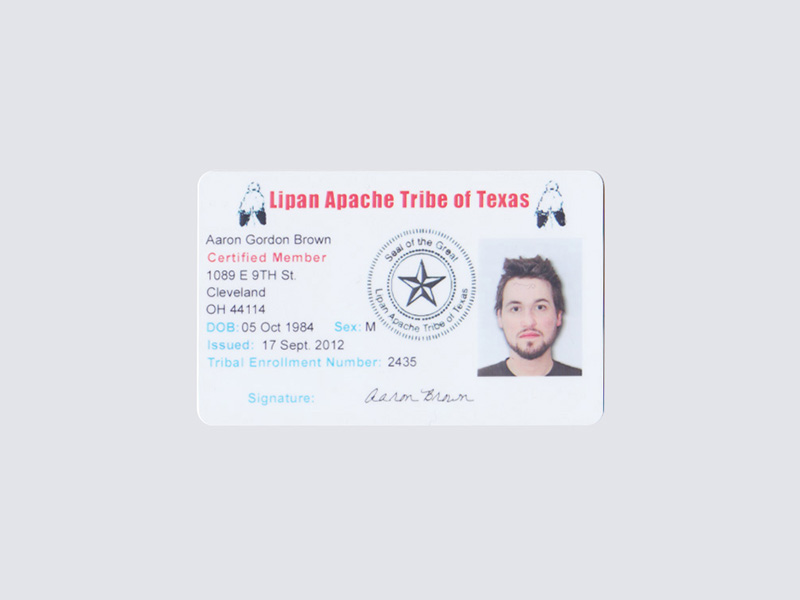 Tribal membership card